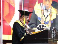 Sambutan Ketua IKA UNM, Nurdin Khalid. (Foto: Agatoni Buttang).