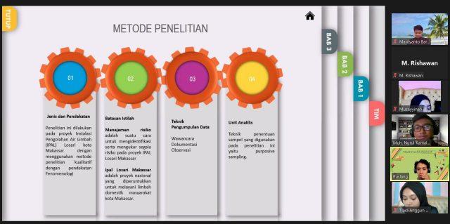 LPM Penalaran Saat Melakukan Seminar Proposal dan Seminar Hasil Secara Daring. (Foto: Ist).