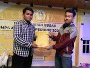 Muhammad Fauzi (kiri), Ketua Terpilih HMPS PAP FIS-H UNM Periode 2021-2022. Foto: Ist.
