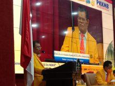 Rektor UNM, Husain Syam saat sambutan, Kamis (12/8). Foto: Agatoni Buttang - Profesi
