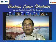 Penyampaian Sambutan Dekan FT UNM dalam Acara Academic Culture Orientation (ACO) 2021. (Foto: Int)