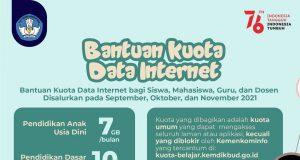 Infografis bantuan kuota internet Kemdikbud Ristek - (Foto-Int)