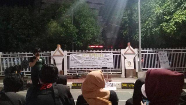 Aliansi Mahasiswa Peringati September Hitam. (Foto: Ainun Najib).