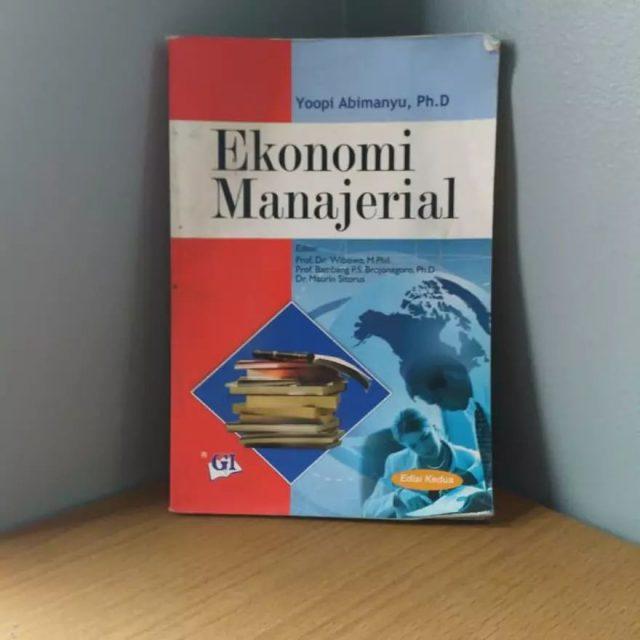 Buku Ekonomi Manajerial, (Foto: Int)